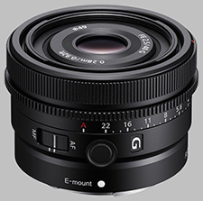 image of the Sony FE 40mm f/2.5 G SEL40F25G lens