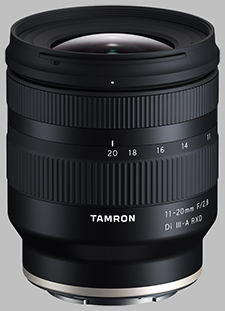 image of the Tamron 11-20mm f/2.8 Di III-A RXD (Model B060) lens