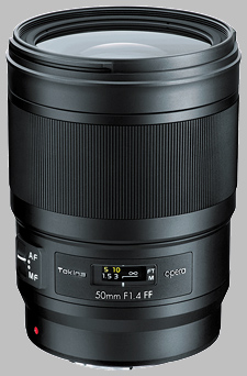 image of the Tokina 50mm f/1.4 FF Opera lens