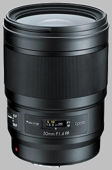 image of the Tokina 50mm f/1.4 FF Opera lens