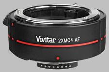 image of the Vivitar 2X Series 1 MC4 AF lens