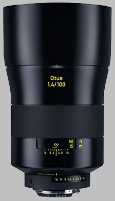 image of the Zeiss 100mm f/1.4 Otus 1.4/100 lens