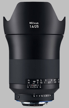 image of the Zeiss 25mm f/1.4 Milvus 1.4/25 lens