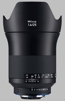image of the Zeiss 25mm f/1.4 Milvus 1.4/25 lens