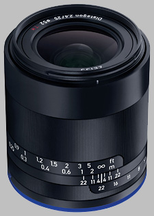 image of the Zeiss 25mm f/2.4 Loxia 2.4/25 lens