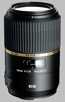 image of the Tamron 90mm f/2.8 Di Macro 1:1 VC USD SP lens