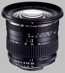 image of the Tamron 19-35mm f/3.5-4.5 AF lens