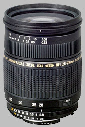 image of the Tamron 28-75mm f/2.8 XR Di LD Aspherical IF SP AF lens