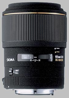 image of the Sigma 105mm f/2.8 EX DG Macro lens