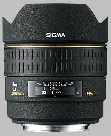 image of the Sigma 14mm f/2.8 EX Aspherical HSM lens