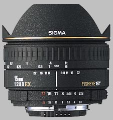 image of the Sigma 15mm f/2.8 EX Diagonal Fisheye lens