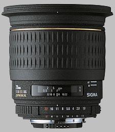 image of the Sigma 20mm f/1.8 EX DG Aspherical RF lens