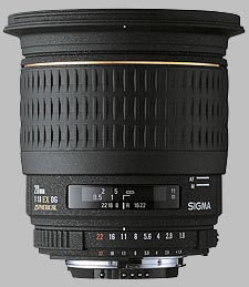 image of the Sigma 20mm f/1.8 EX DG Aspherical RF lens