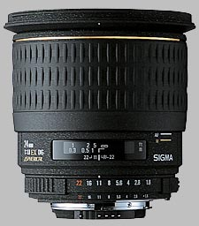 image of the Sigma 24mm f/1.8 EX DG Aspherical Macro lens