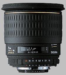 image of the Sigma 24mm f/1.8 EX DG Aspherical Macro lens