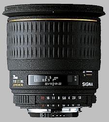 image of the Sigma 28mm f/1.8 EX DG Aspherical Macro lens