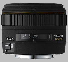 image of the Sigma 30mm f/1.4 EX DC HSM lens