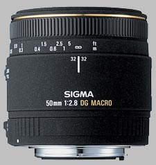 image of the Sigma 50mm f/2.8 EX DG Macro lens