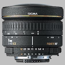 image of the Sigma 8mm f/4 EX Circular Fisheye lens