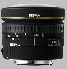 image of the Sigma 8mm f/4 EX DG Circular Fisheye lens