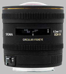 image of the Sigma 4.5mm f/2.8 EX DC Circular Fisheye HSM lens