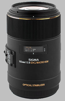 image of the Sigma 105mm f/2.8 EX DG OS HSM Macro lens
