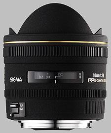 image of the Sigma 10mm f/2.8 EX DC Fisheye HSM lens