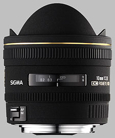 image of the Sigma 10mm f/2.8 EX DC Fisheye HSM lens