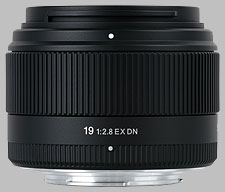 image of the Sigma 19mm f/2.8 EX DN lens