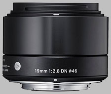image of the Sigma 19mm f/2.8 DN Art lens
