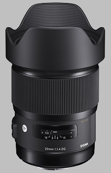 image of the Sigma 20mm f/1.4 DG HSM Art lens