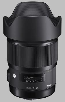 image of the Sigma 20mm f/1.4 DG HSM Art lens