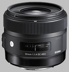 image of the Sigma 30mm f/1.4 DC HSM Art lens