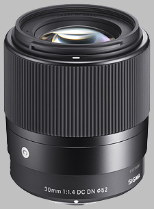 image of the Sigma 30mm f/1.4 DC DN Contemporary lens