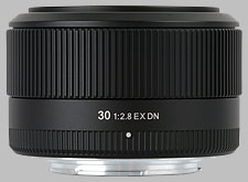 image of the Sigma 30mm f/2.8 EX DN lens