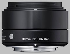 image of the Sigma 30mm f/2.8 DN Art lens