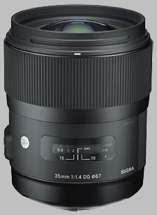 image of the Sigma 35mm f/1.4 DG HSM Art lens