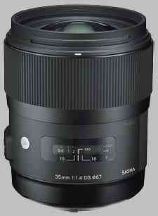 image of the Sigma 35mm f/1.4 DG HSM Art lens