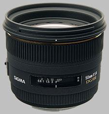 image of the Sigma 50mm f/1.4 EX DG HSM lens