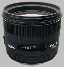 image of the Sigma 50mm f/1.4 EX DG HSM lens