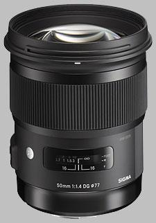 image of the Sigma 50mm f/1.4 DG HSM Art lens