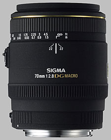 image of the Sigma 70mm f/2.8 EX DG Macro lens