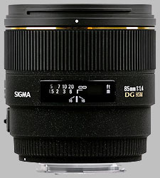 image of the Sigma 85mm f/1.4 EX DG HSM lens