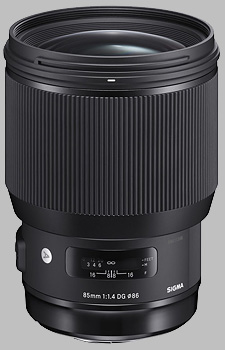 image of the Sigma 85mm f/1.4 DG HSM Art lens