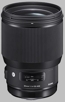 image of the Sigma 85mm f/1.4 DG HSM Art lens