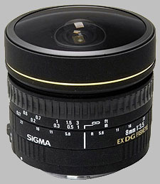 image of the Sigma 8mm f/3.5 EX DG Circular Fisheye lens