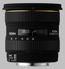 image of the Sigma 10-20mm f/4-5.6 EX DC HSM lens