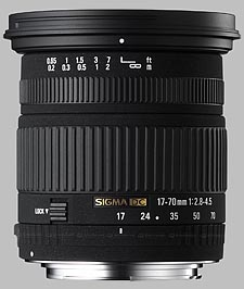 image of the Sigma 17-70mm f/2.8-4.5 DC Macro lens