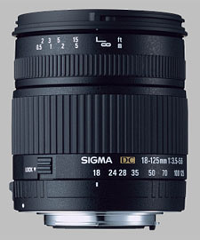 image of the Sigma 18-125mm f/3.5-5.6 DC lens