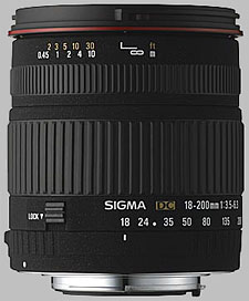 image of the Sigma 18-200mm f/3.5-6.3 DC lens